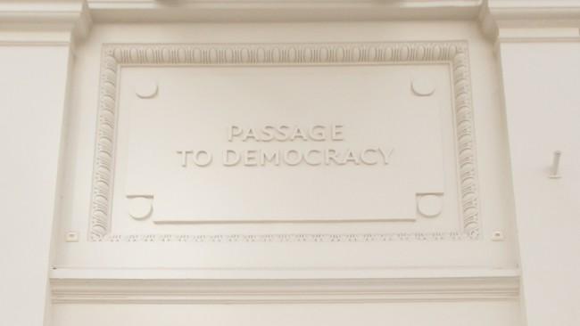 Entrance NIMD - Passage to Democracy